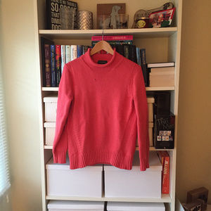 J. Crew Coral Turtleneck Sweater
